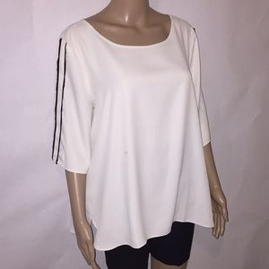 Ann Taylor capes sleeve flows white top Sz XL